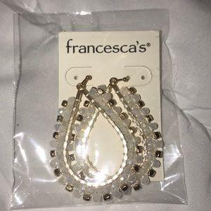 Francesca's Ivory statement Earrings